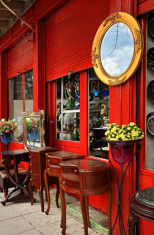 Colorful antique shops in Komotini, Rodopi, Thrace_ Greece