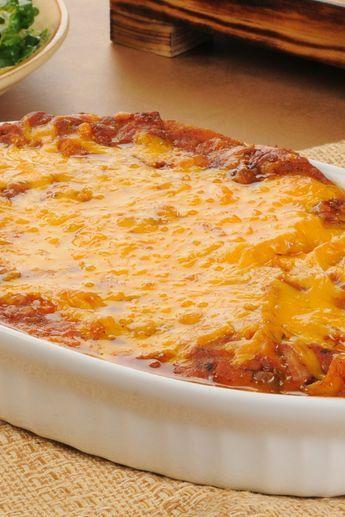 Creamy Burrito Casserole Recipe #mexican #texmex #casserole #recipe #groundbeef