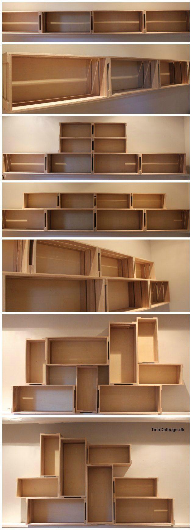 Tjek de seje æblekasser fra Kreahobshop.dk - til opbevaring eller til at hænge på væggen...