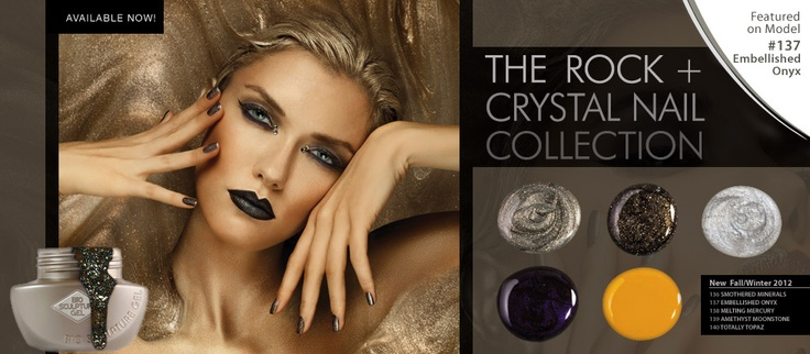 ROCK+ CRYSTAL NAIL COLLECTION ~ Our newest color collection is available now!