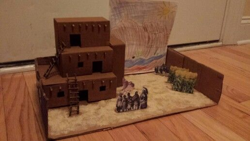 Adobe Indian Village (school project)
