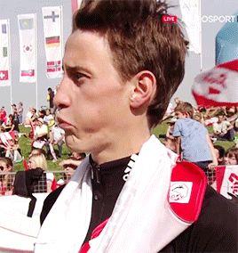 Peter Prevc's reaction to Maciej Kot's jump | Hinzenbach [1.10.2016]