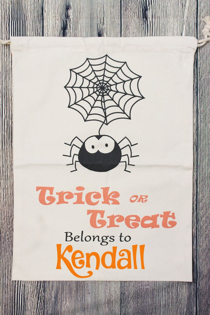 Personalized Halloween Bag, Trick or Treat Bag, Personalized Trick or Treat Bag, Halloween Sack, Trick or Treat Candy Bag, Candy Sack