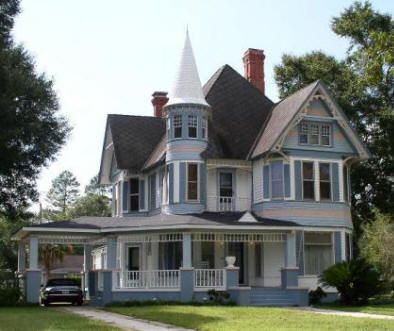 Queen anne beautiful and spring on pinterest for Victorian style kit homes