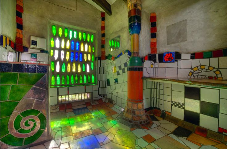 kawakawa hundertwasser toilets colour form design. Black Bedroom Furniture Sets. Home Design Ideas