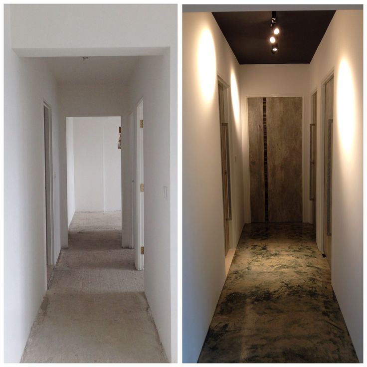 Before And After Renovation Of Corridor By Intradesign