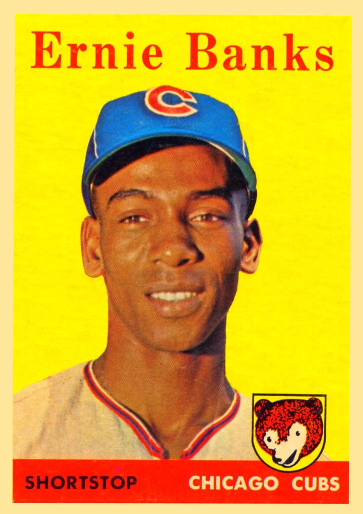 1958 topps chicago cubs ernie banks baseball card