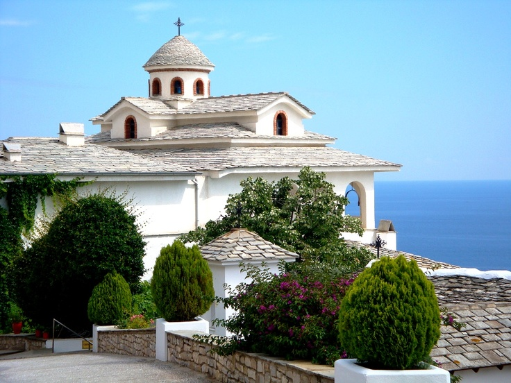 The Archangelou Monastery on the Greek Island of Thassos