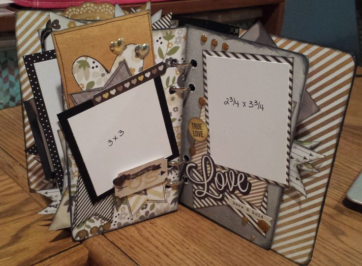 The Story of Us Mini album created by Stacia http://scrapbookchallenges.com