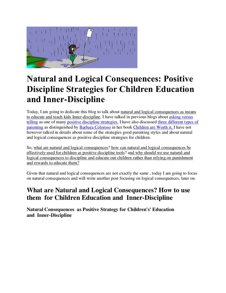 natural-and-logical-consequences by Lala Johnson via Slideshare