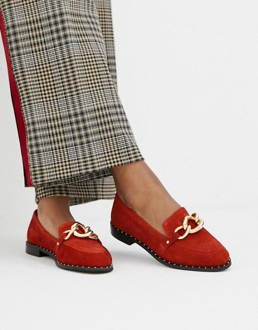 River Island sammy mega stores shelf flat shoes leather | Leather flats outfit, Flat shoes women, Chic shoes