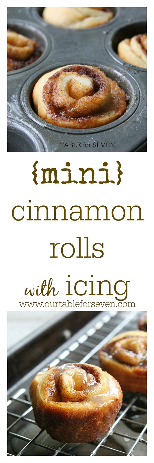 Mini Cinnamon Rolls with Icing - TABLE for SEVEN