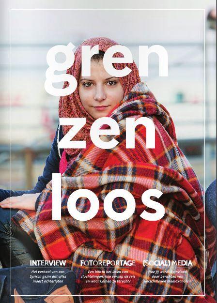 Grenzenloos is een informatief blad over de vluchtelingencrisis in Nederland. Het tijdschrift is gemaakt door vier studenten van Fontys Hogeschool Journalistiek in samenwerking met vijf studenten vormgeving van Sint Lucas in Boxtel.