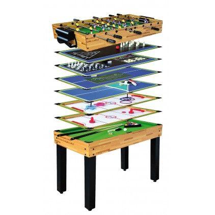 Multijuego 12 en 1 - 179,95 € #futbolin #billar #ping-pong #pushhockey #multijuego #icehockey #dados #blackjack #barato #poker #ajedrez #anillas #herraduras #backgammon #bolos