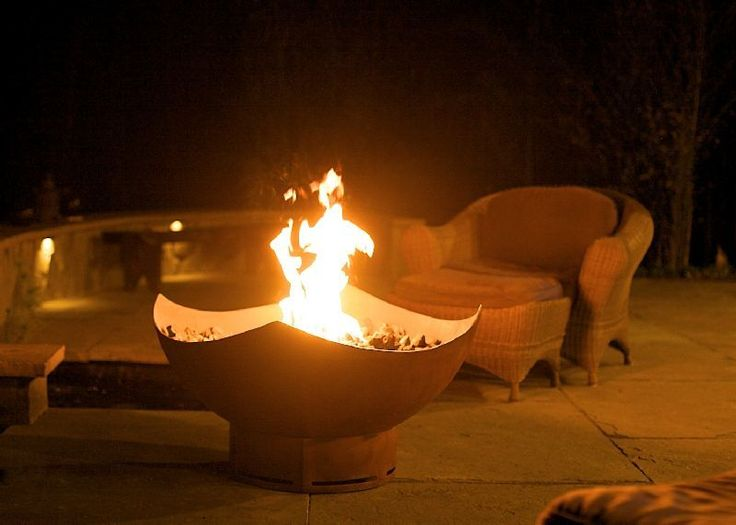 """Fire Pit Art Manta Ray 36"""" Natural Gas or Propane Fire Pit"""