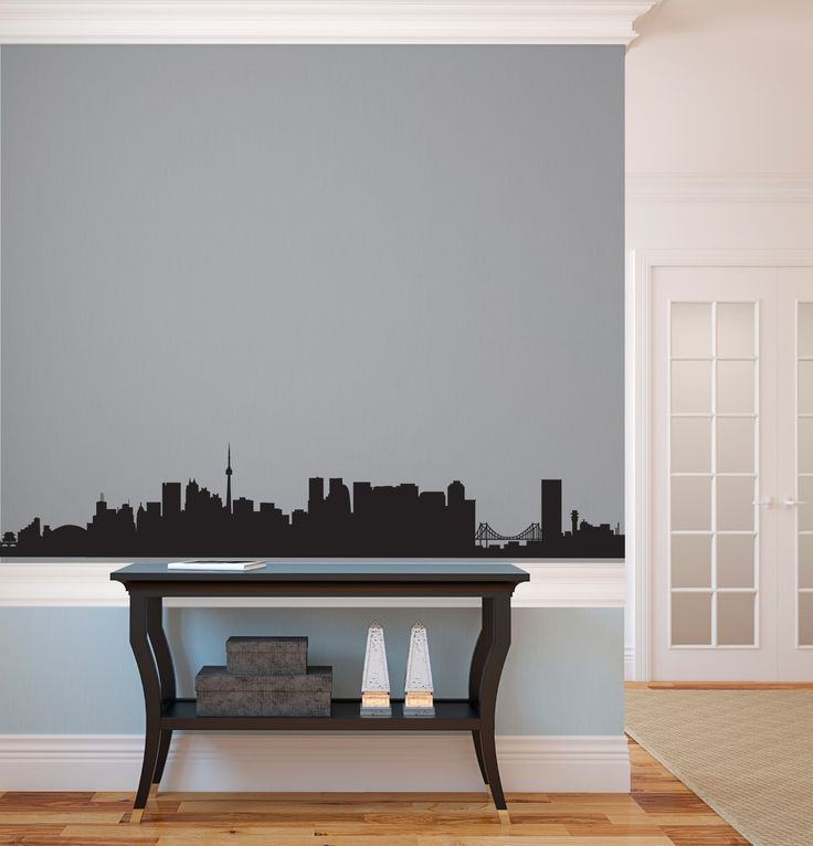 Best City Skyline Wall Decals Images On Pinterest Custom - Custom vinyl wall decals coffee