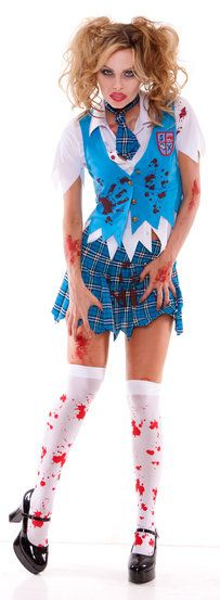 School Girl Spectre Zombie Adult Costume