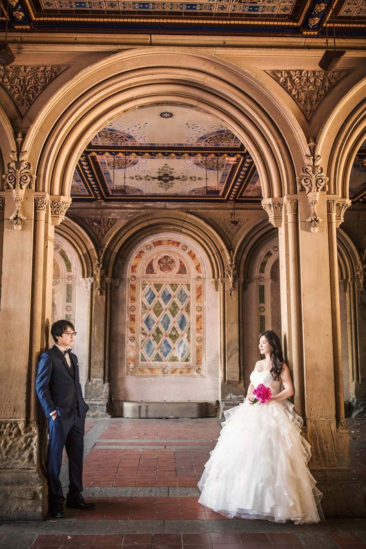 Photography: EJ Photography  Photography: Ayako Photography  #ニューヨーク #前撮り #ウエディングドレス