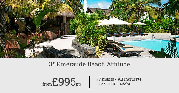 Wonderful deals for Emeraude Beach Attitude! Check-in for 07 nights and get one night free to enjoy more of Mauritius!