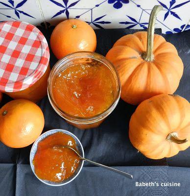 Confiture de potimarron et clémentines à la cannelle et au gingembre