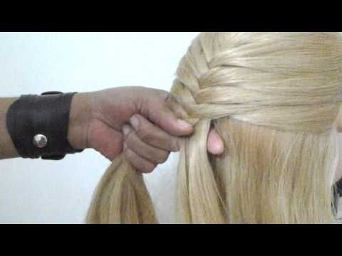 Como fazer trança embutida invertida por Pamella Rocha - YouTube
