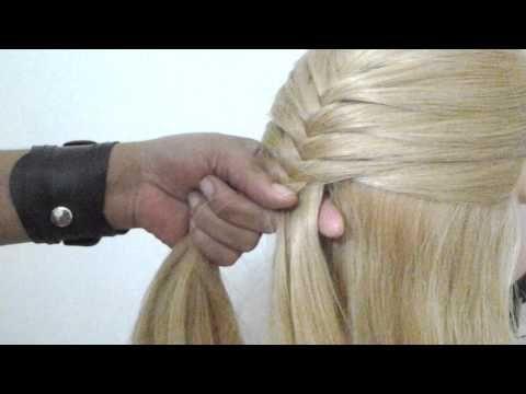 Trança espinha de peixe por Ludmila Maltez - YouTube
