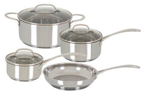 Oster Davenport 7 Piece Cookware Set, Stainless Steel at B