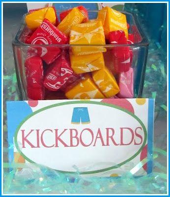 kick boards party snack (starburst) #YoYoBirthday