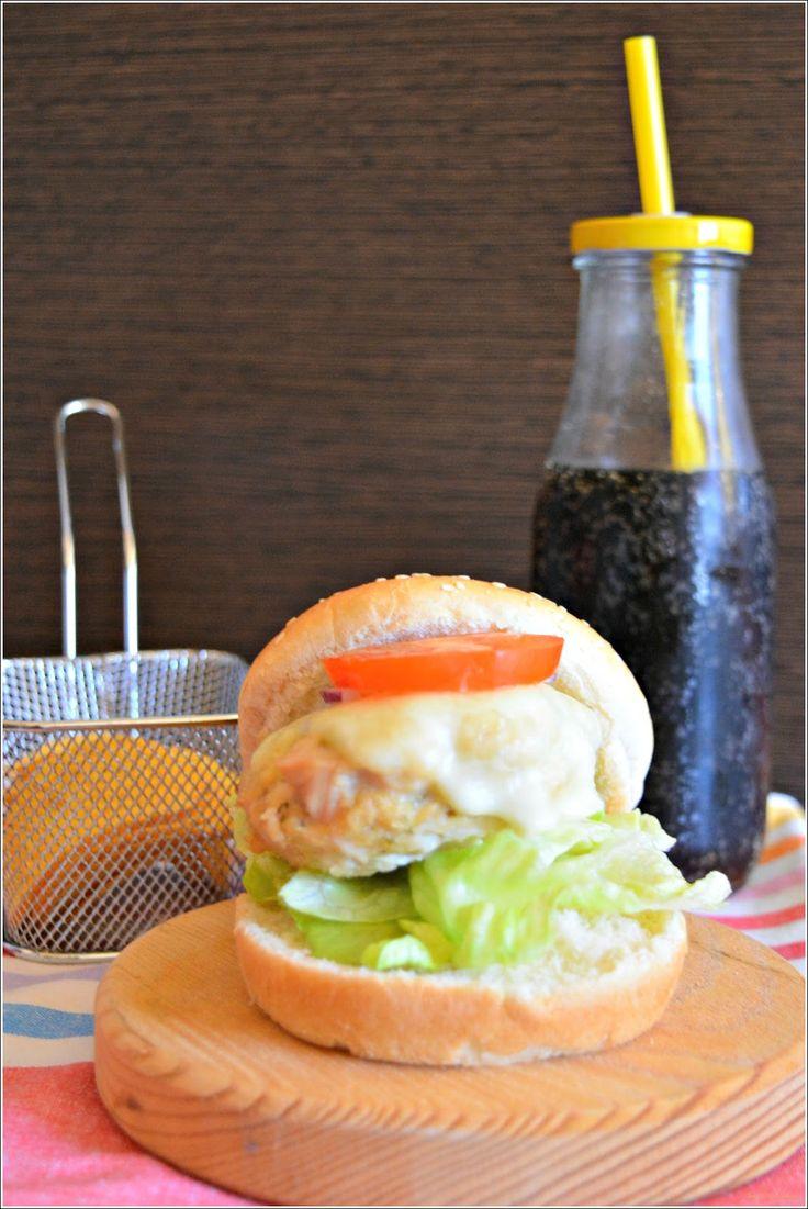 Sweet my Kitchen: Hambúrguer de frango e parmesão