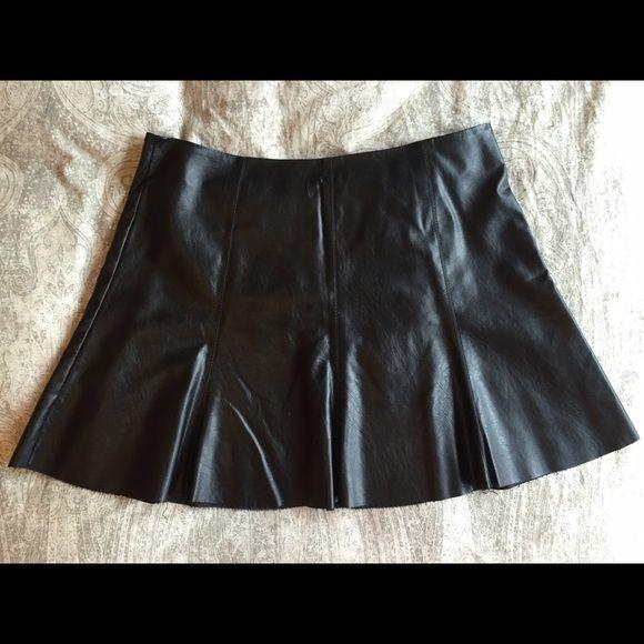 Faux Leather Skirt. A-line. Super cute faux leather A line skirt. Sfera Skirts A-Line or Full