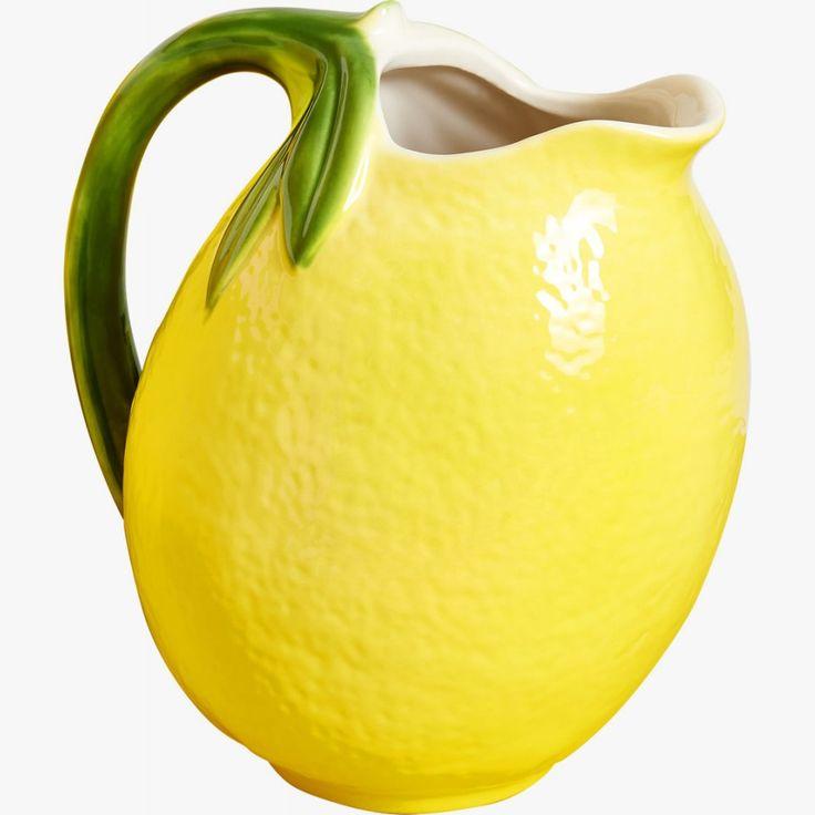 FRUITI-sarjan kannu #mehukannu #sitruuna #keltainen #kattaus #piknik #kesä