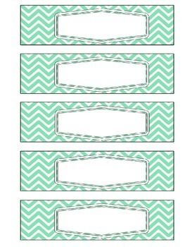 Sterilite 5 Drawer Labels: Coral & Mint                              …                                                                                                                                                                                 More
