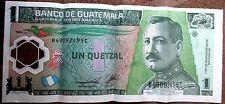 2011 BANCO DE GUATEMALA UN QUETZAL BANK NOTE