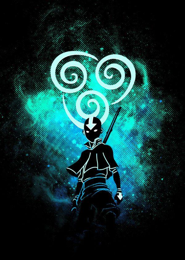 Air Art Anime Manga Poster Print Metal Posters Avatar Airbender Avatar Ang Avatar Aang