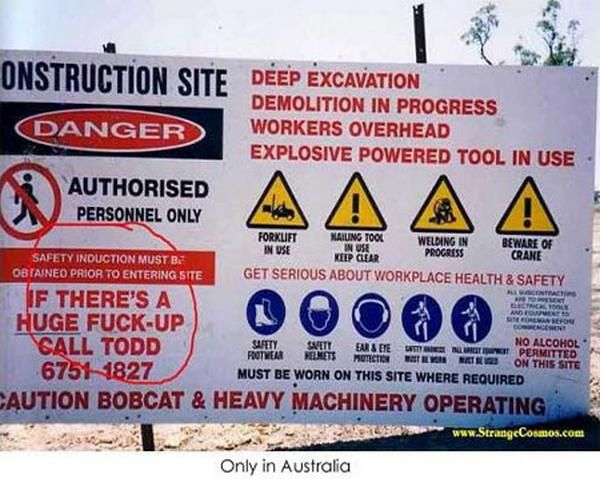 Best Contractor Humor Images On Pinterest Army Life - 24 funniest signs ever spotted around 6 just brilliant