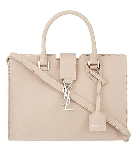 SAINT LAURENT Monogram baby Cabas leather tote