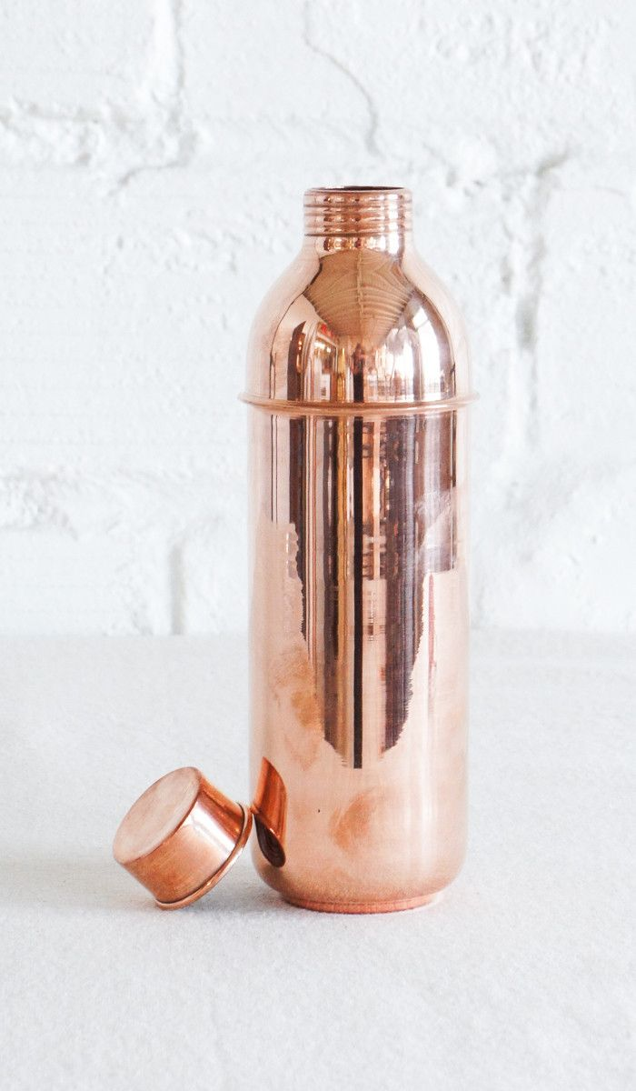 The benefits of storing water in copper vessels has been part of human history for millennia. The ancient wisdom of ‪#‎Ayurveda‬ suggests that water stored overnight in copper vessels has the ability to balance all the three 'doshas' in the body by positively charging the water. The Ganges Jug & Tumbler are ideal for the bedside or workspace, where water is kept for hours at a time.