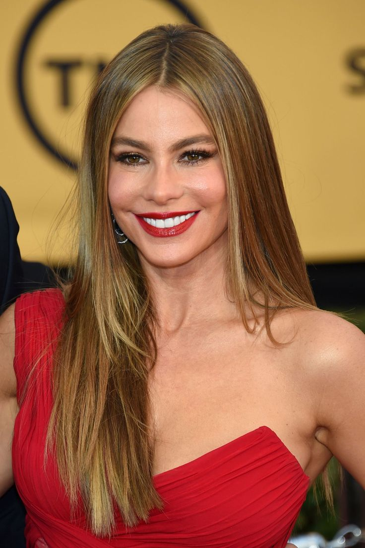 Sofia Vergara For a smooth look, apply hairspray to your hand & run it through hair; helps keep flyaways in place.