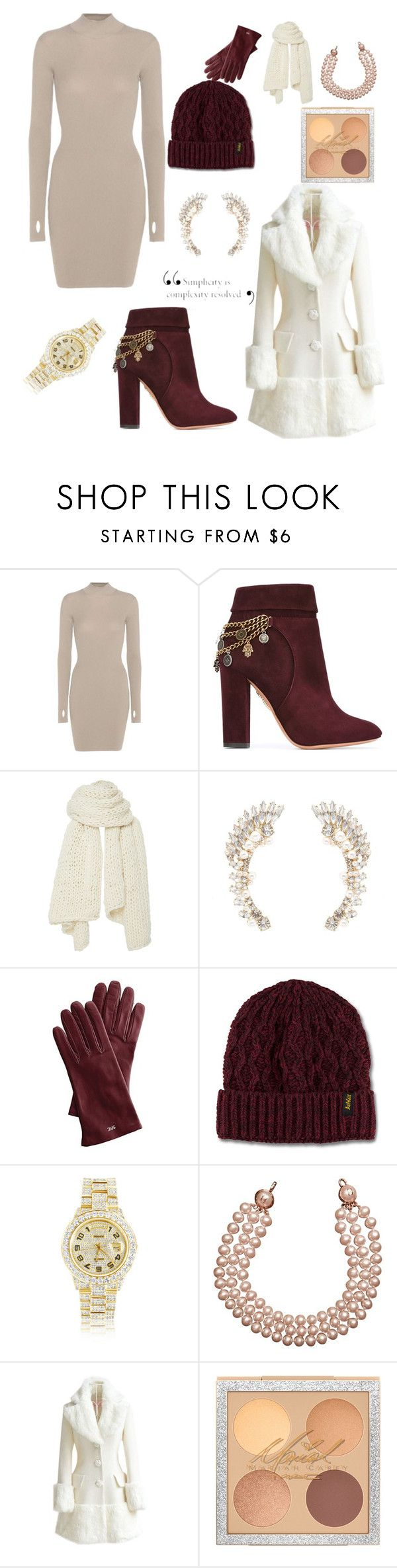 """bundle up"" by mariahhightower ❤ liked on Polyvore featuring adidas Originals, Aquazzura, I Love Mr. Mittens, Charlotte Russe, Mark & Graham, Dr. Martens, Rolex, Chanel and WithChic"
