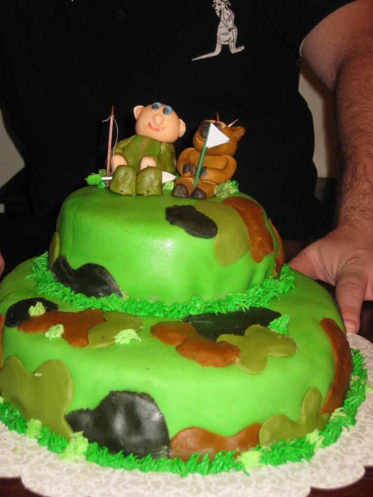 Camo Hunting Cake For My Husbands 35th Birthday Food Pinterest