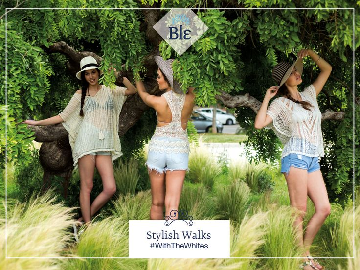 Walk… the stylish walk με τον πιο hot συνδυασμό: λευκό τοπ – jean shorts. Like the looks? Buy them here Ble-shop.com #BleResortCollection #BleSummer #SummerStyle #SummerShirt #WhiteShirt #SummerClothes #SummerOutfit