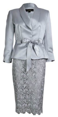 Women's Satin & Lace Evening Formal Skirt Suit (2, Silver) Tahari,http://www.amazon.com/dp/B00FYWD4CK/ref=cm_sw_r_pi_dp_nrYBsb1C4HK80QD8