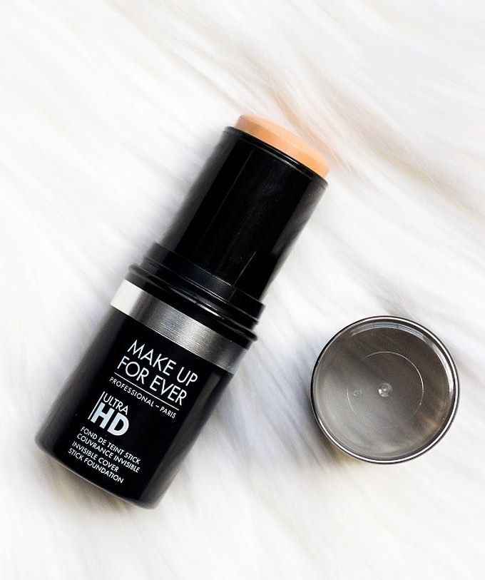 This is hands down one of the best foundations I have ever tried. It's FULL coverage moisturizing and gives a gorgeous glow to the skin. | Make Up For Ever Ultra HD Stick Foundation [I am currently shade Y245] @makeupforeverofficial #mufe #ultrahdstick by kylaraemccabe