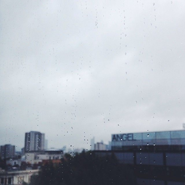 The view of London from our boardroom on a rainy day.