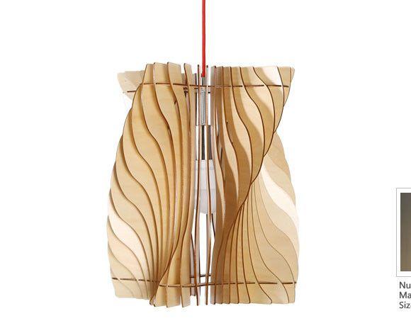 Originálne závesné drevené svietidlo z kolekcie iWood - CYCLONE