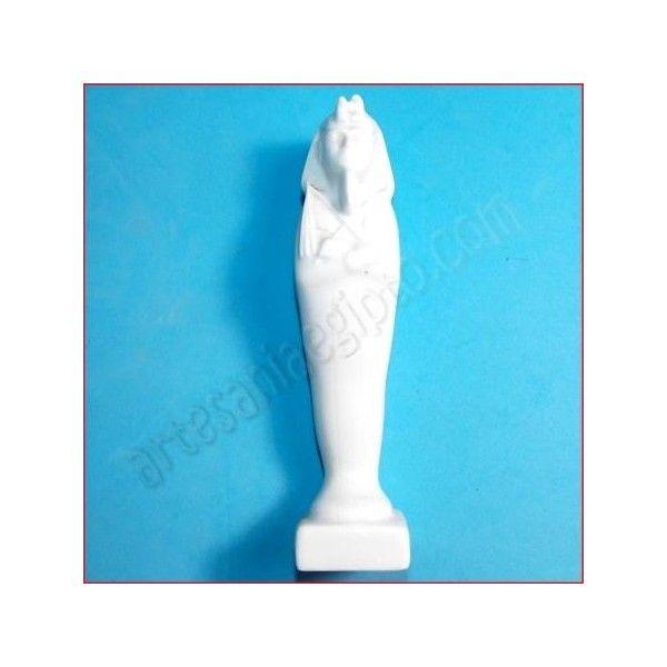 Figura de artesanía, momia egipcia. La base y el busto están elaborados en porcelana. Realizada artesanalmente y cuidadosamente detallada por los artesanos egipcios. Altura aproximada 16cm. www.artesaniaegipto.com