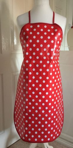 Handmade red & white spot pvc #unisex #medium adult #baking/craft apron,  View more on the LINK: 	http://www.zeppy.io/product/gb/2/252711378692/