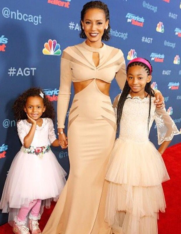 Nothing but love: Mel B and Heidi Klum give fellow