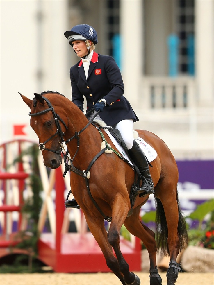 Zara Phillips and her horse High Kingdom take partin the TeamEventing competition at Greenwich Park.