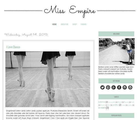 Best 20+ Blogger Template Free Ideas On Pinterest in Free Premade Blogger Templates